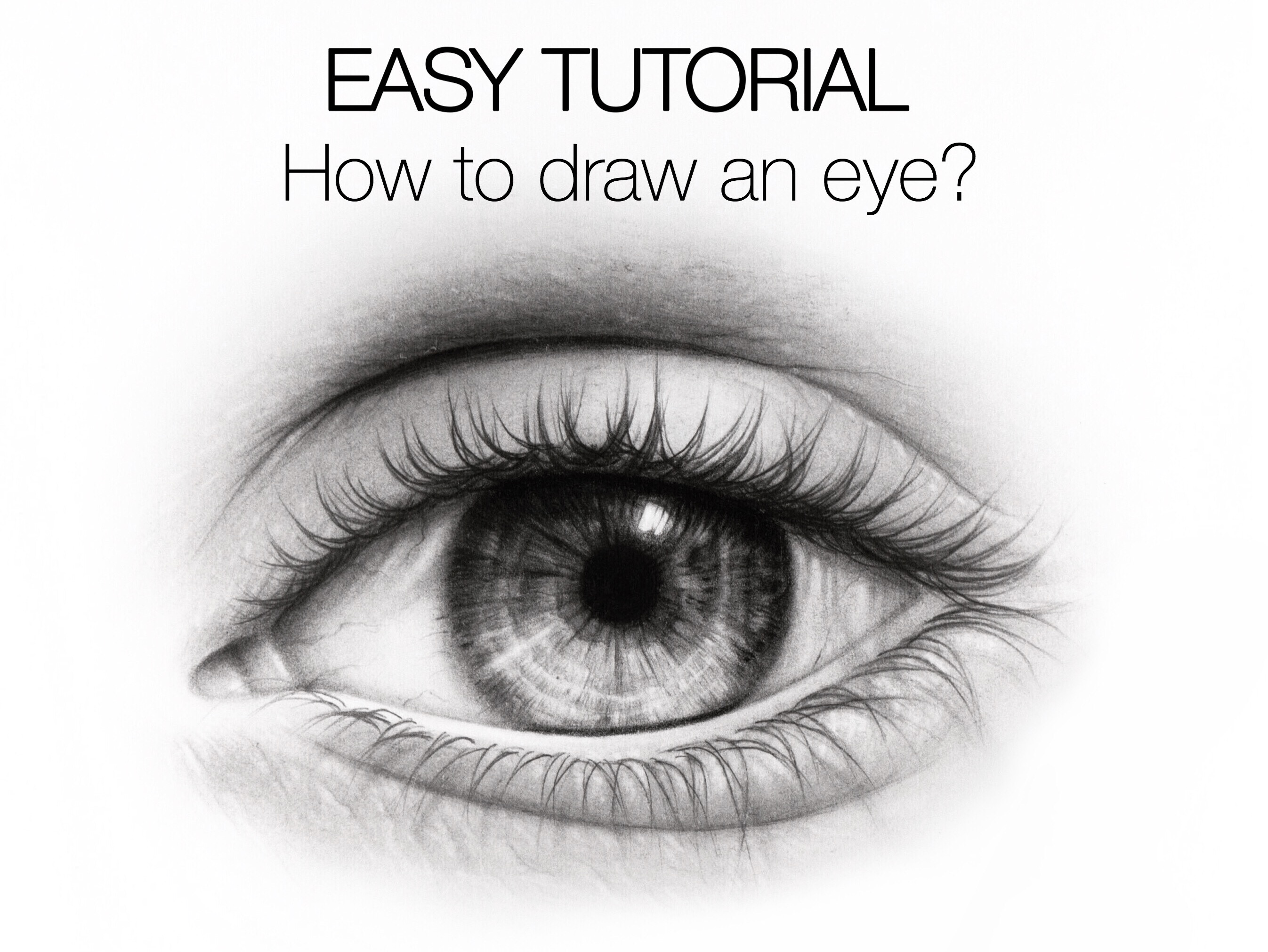 10 mar easy tutorial how to draw an eye